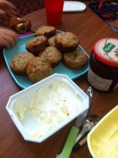 Kids in the Kitchen : Zucchini Muffins food